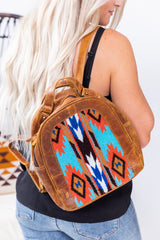Aztec Dreams Leather Backpack