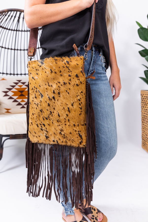 Buckskin Betty Hide Fringe Bag