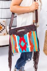 Tuscaloosa Saddleblanket Fringe Purse