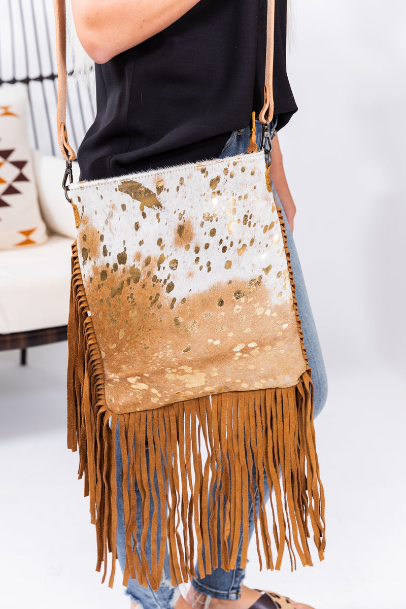 Golden Betty Hide Leather Purse