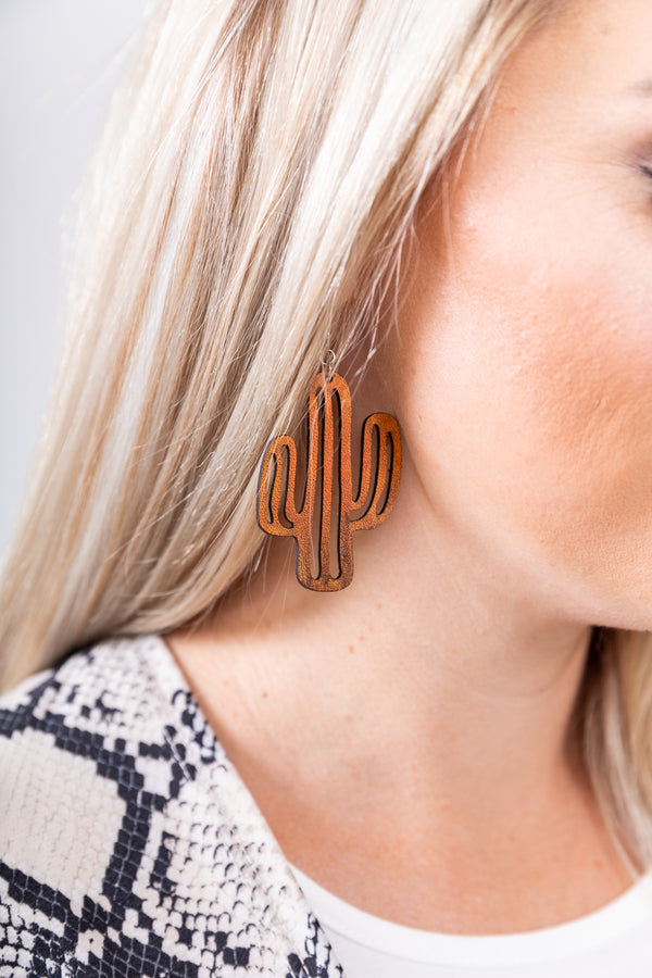 Not A Hugger Saddle Leather Earrings