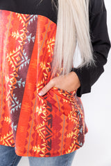 Fire Aztec Pull Over