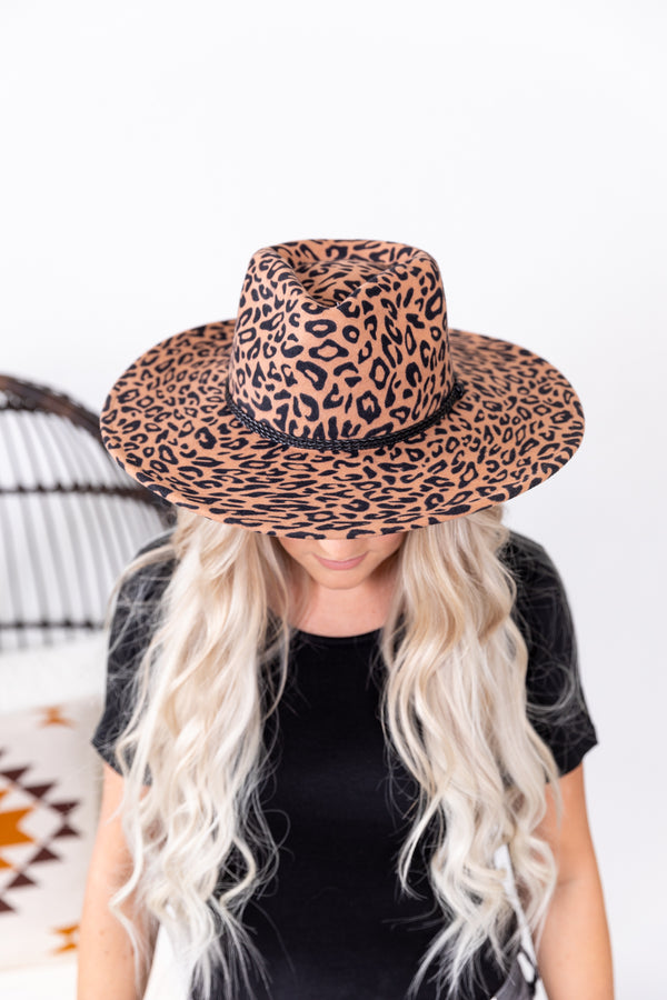 Wild About Leopard Wool Hat