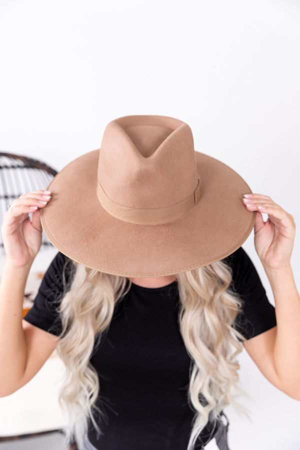 The Loretta Flat Brim Wool Hat