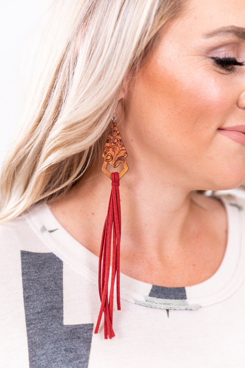Burgundy Ponderosa Earrings