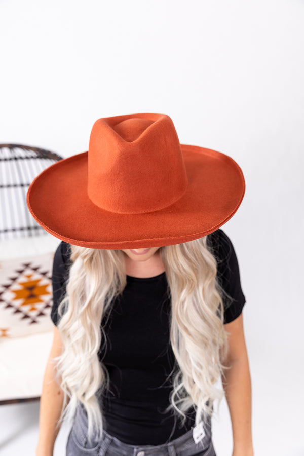 Rust Out West Lenny Wool Hat