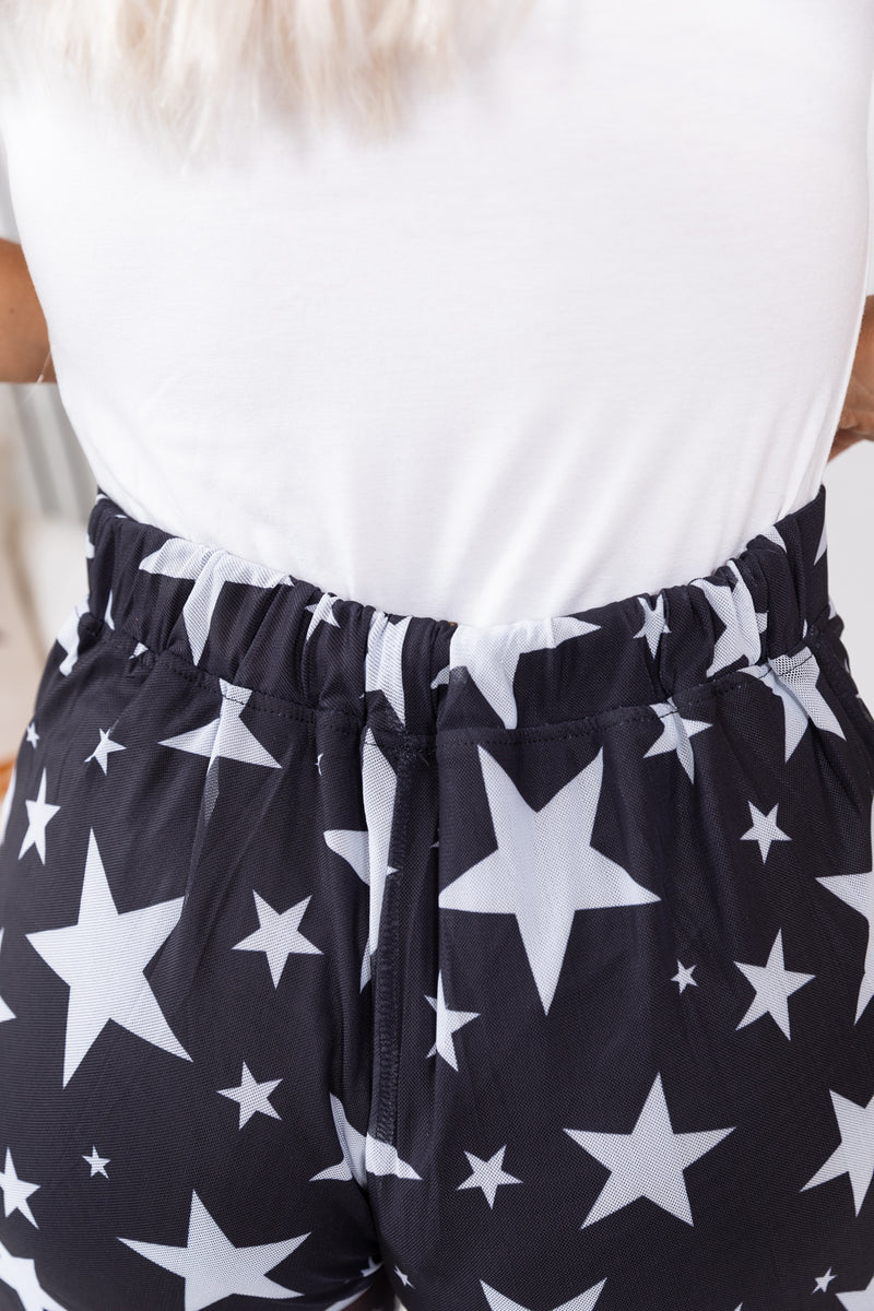 Be A Star White Chiffon Flares