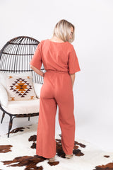 Fall Favorite Pinstripe Jumpsuit
