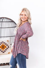 Fall For You Leopard Baby Doll Top