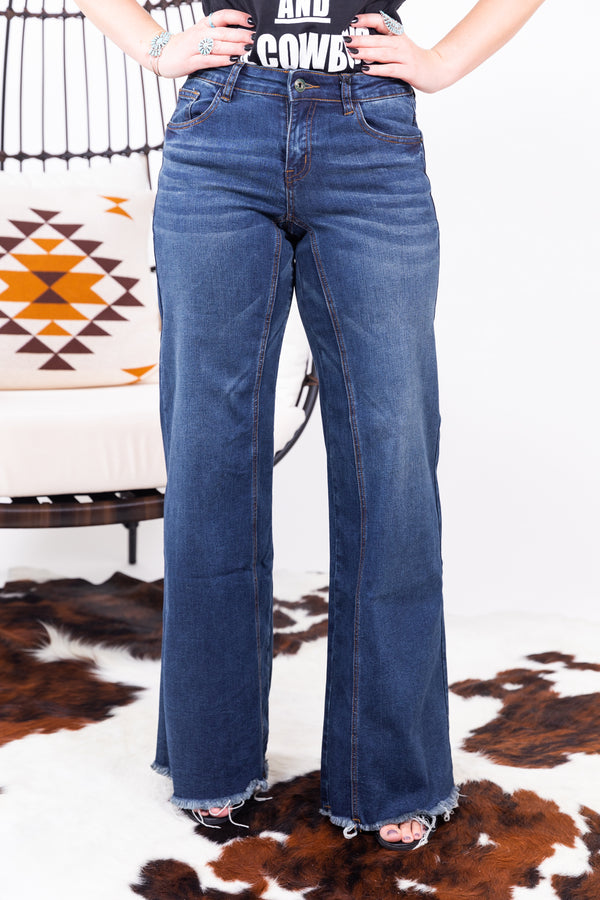 Way Wide Leg Denim Flares