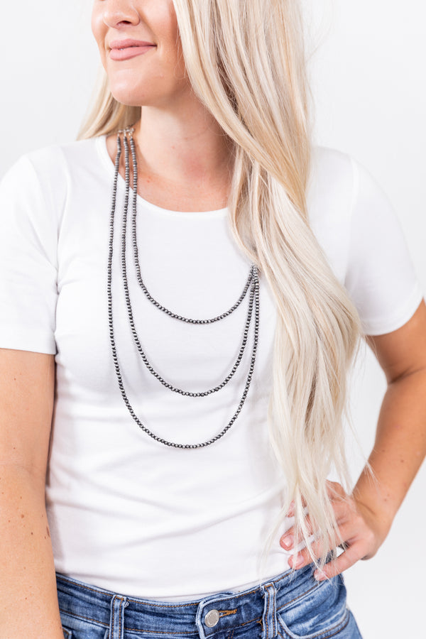 Little Houston Layered Navajo Pearl Necklace