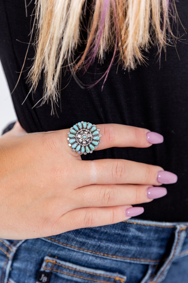 Always On My Mind Sterling Silver Turquoise Ring