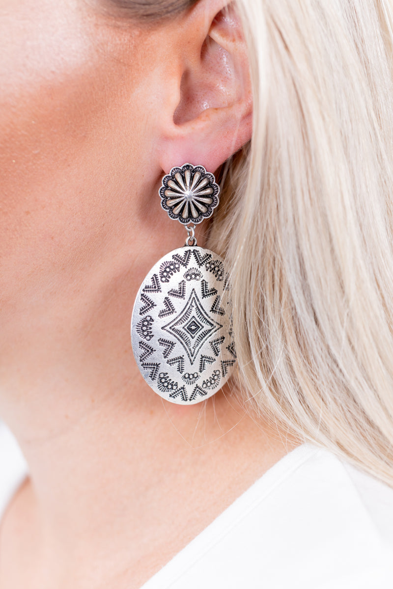 Aztec Concho Post Earrings