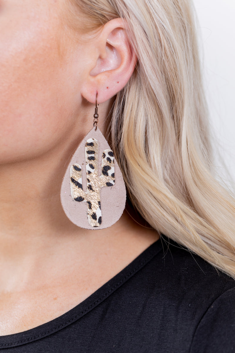 Leopard Saguaro Earrings