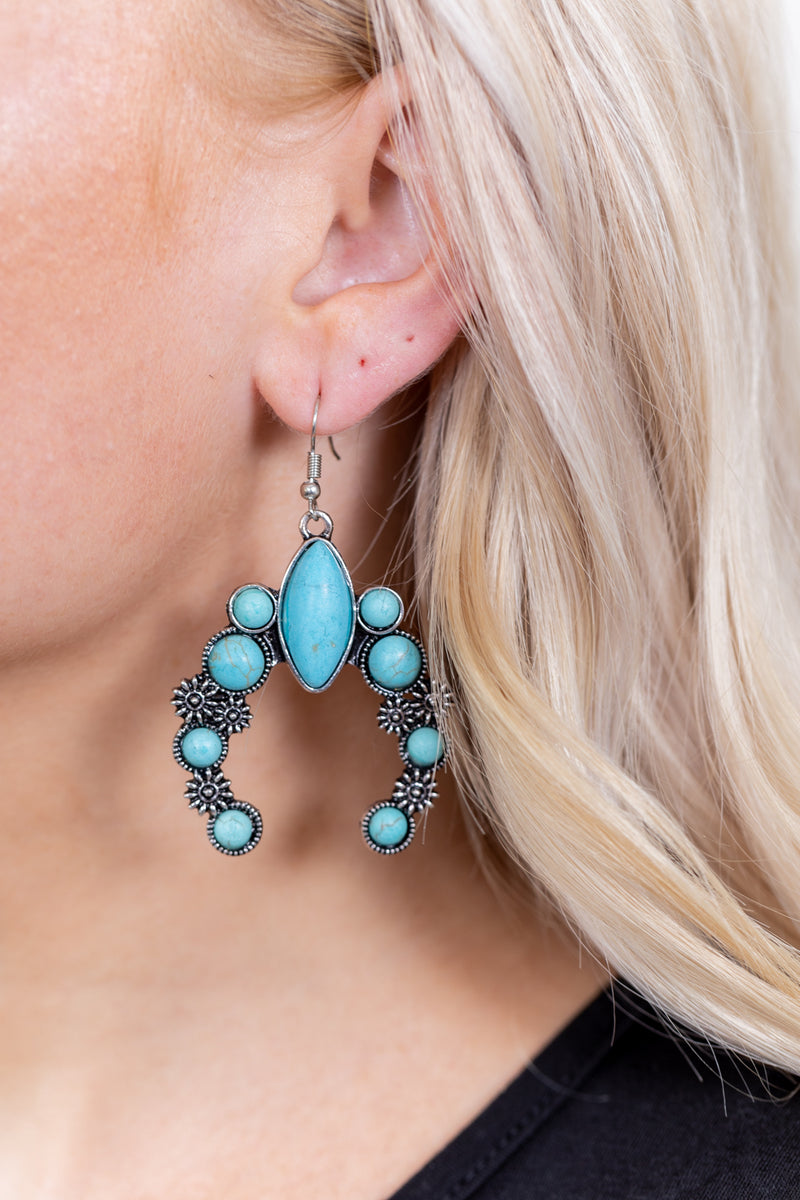 Turquoise Naja Daisy Earrings