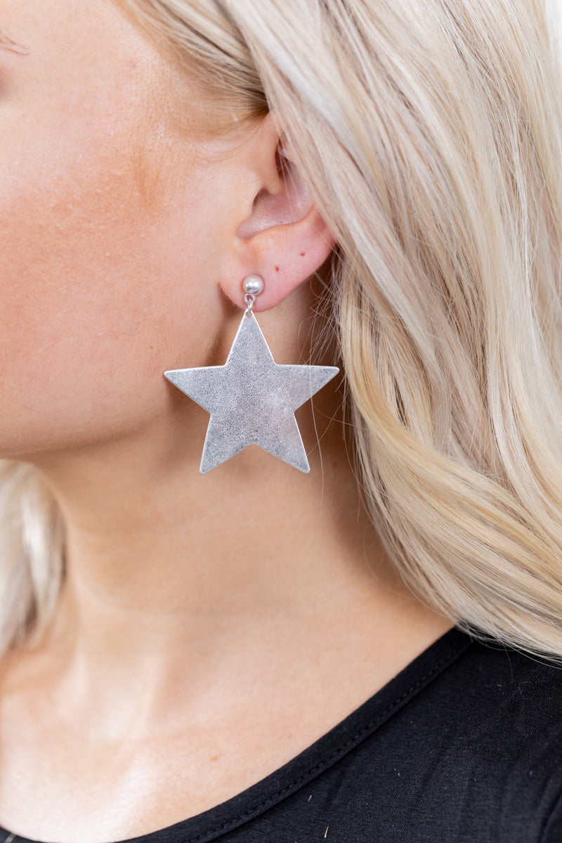 Star Girl Silver Earrings