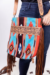 Blame It On Whiskey Saddleblanket Fringe Bag