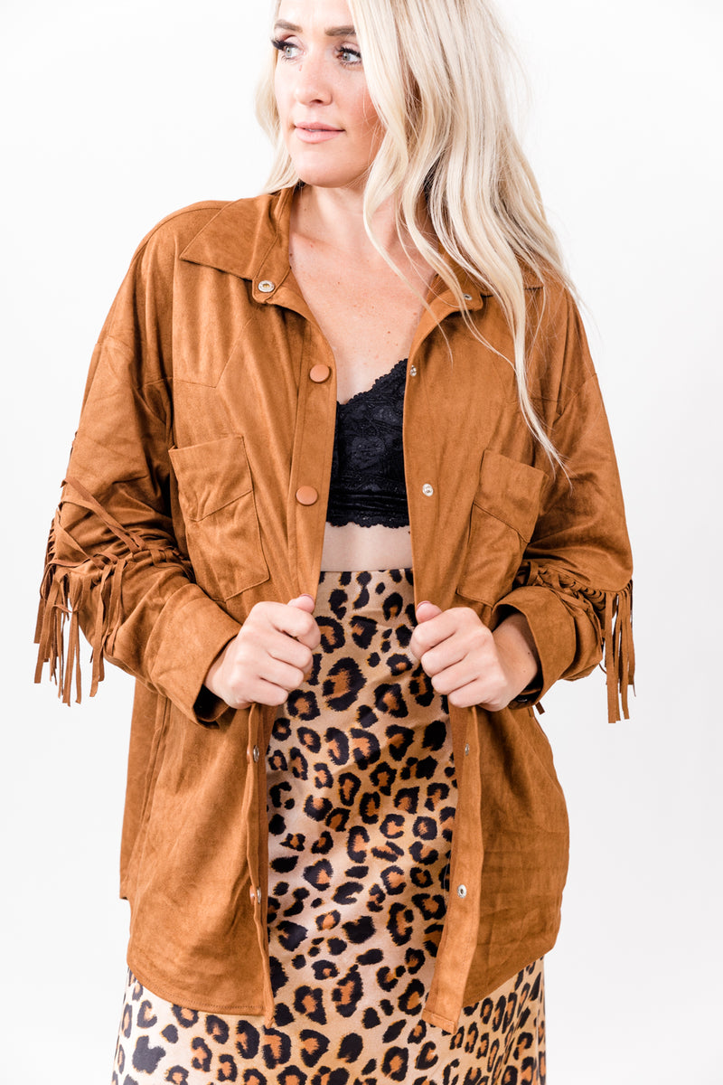 Saddle Out West Snap Top