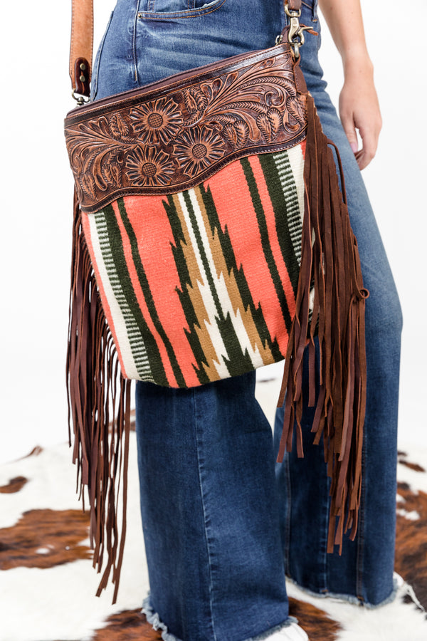 90's Baby Fringe Saddle Blanket Purse
