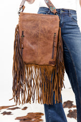 Cowboy's Sweetheart Shoulder Bag In Turquoise