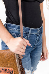 Hide Cowgal Envelope Purse