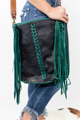 Follow Your Arrow Leather Fringe Bag