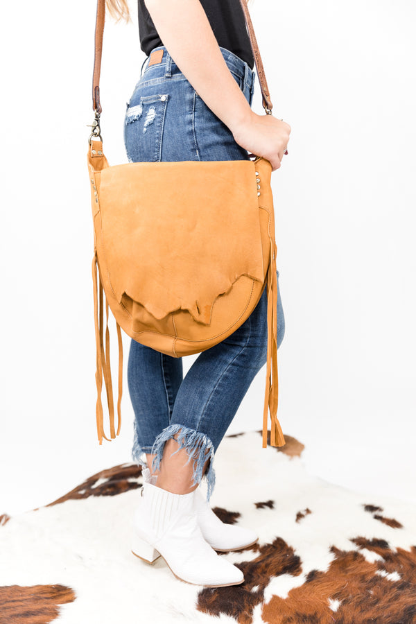 Blame It On My Roots Raw Leather Purse