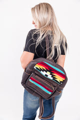 Hideaway Aztec Leather Backpack