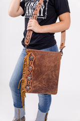 Rodeo Queen Leather Fringe Purse
