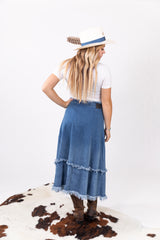 The Shania Denim Midi Skirt