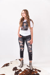 Greyhound Distressed Denim Judy Blue Skinny Jeans