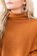 Rusted Amber Cowl Neck Top