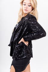 Midnight Disco Cowgirl Sequin Blazer