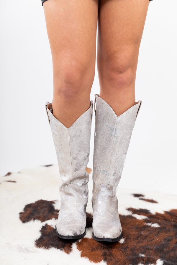 Disco Cowgirl Splatter Boots