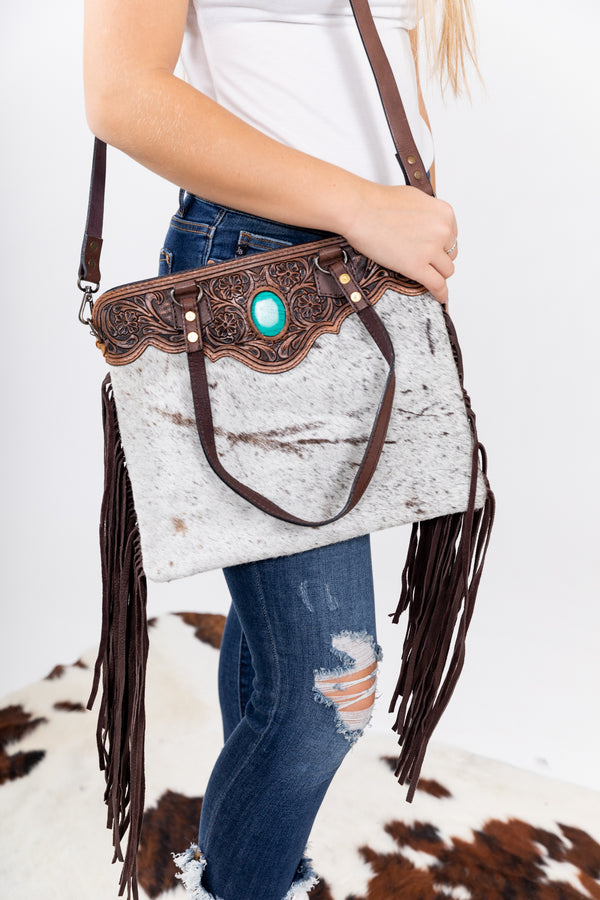 Cojo Hide Fringe Purse