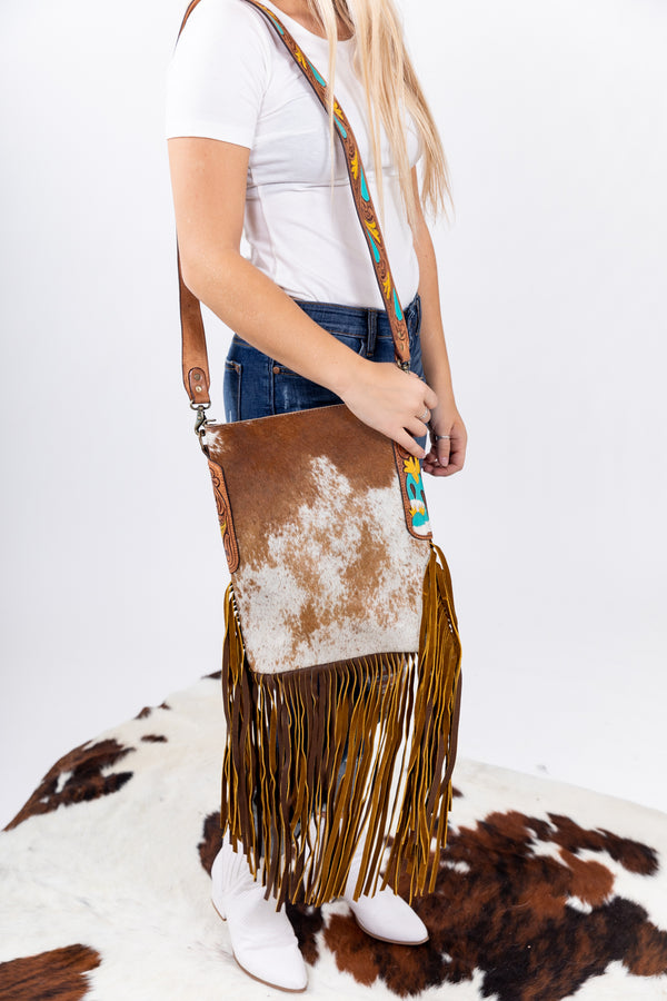County Fair Hide Fringe Purse