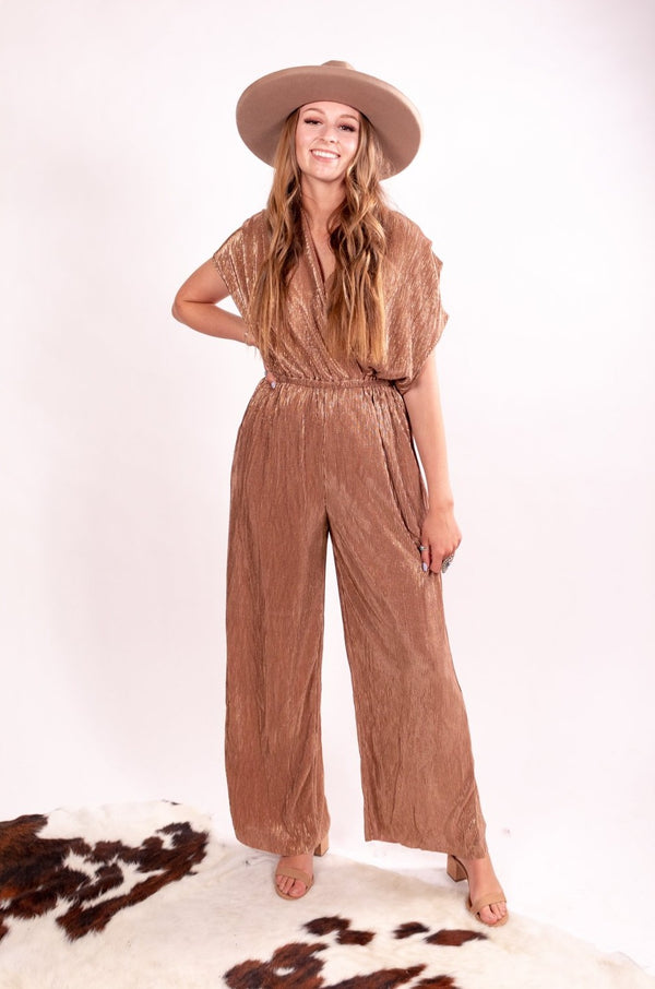Maybe It Was Memphis Bronze Jumpsuit