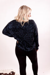 Baby It's Cold Outside Sequin Sweater Top