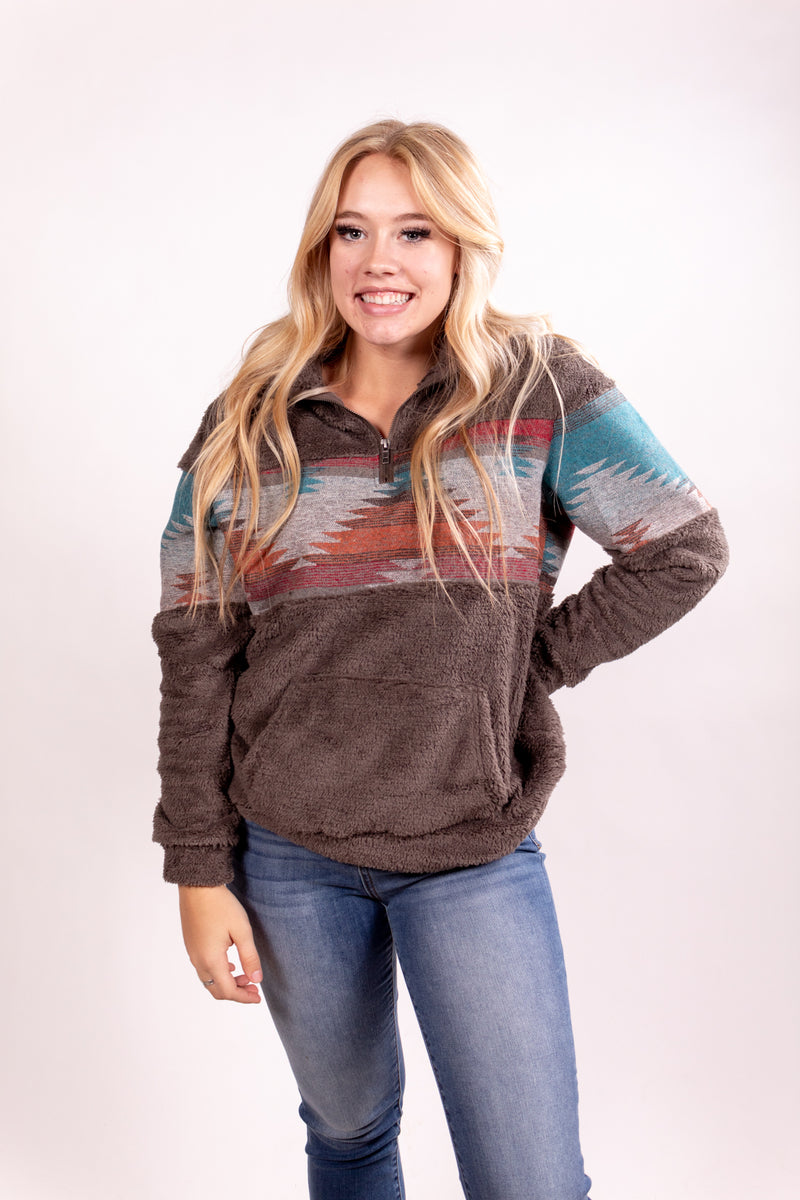 Morning Favorite Aztec Winter Pull Over