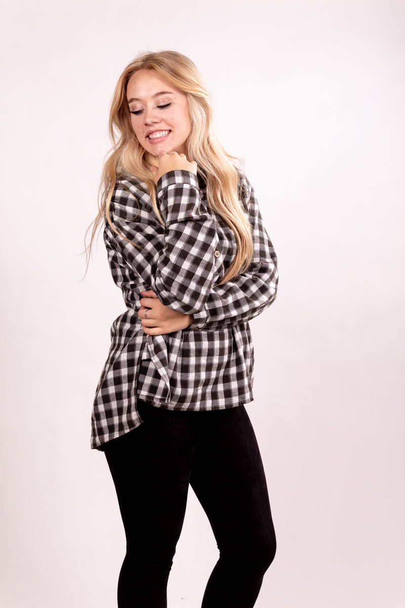 Plaid It Right Long Sleeve Top
