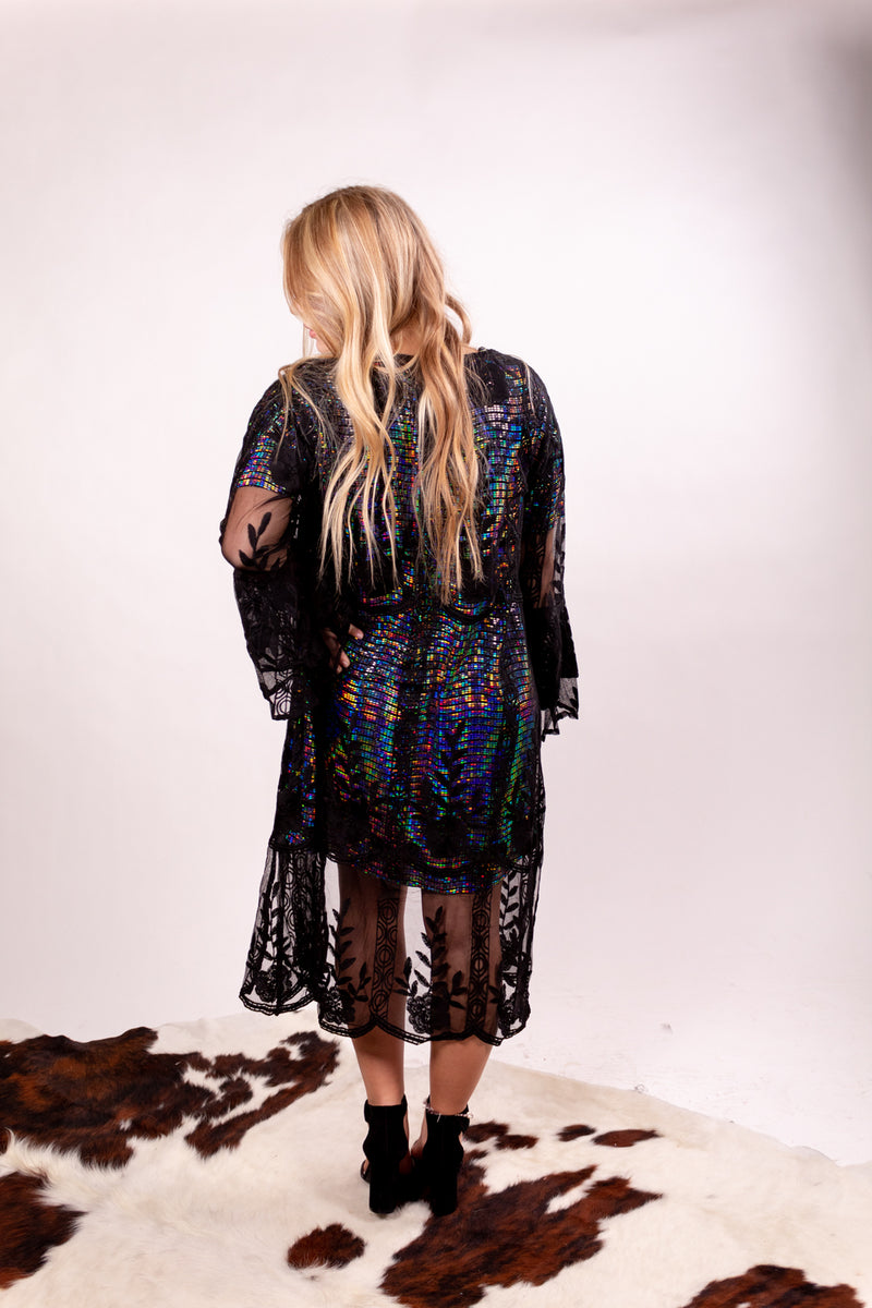 Lovely In Midnight Lace Duster