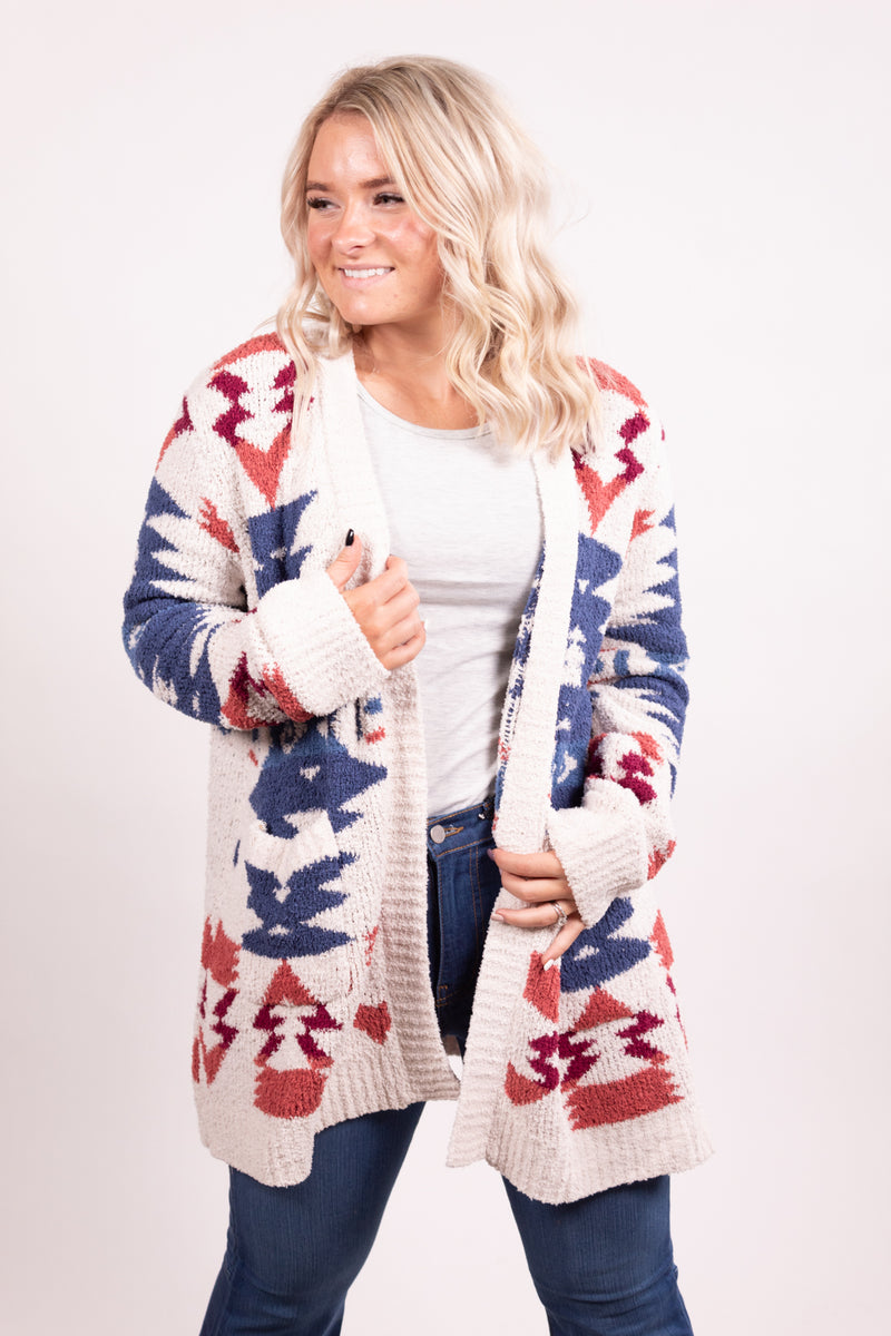 It's About To Get Western Ivory Fall Cardigan