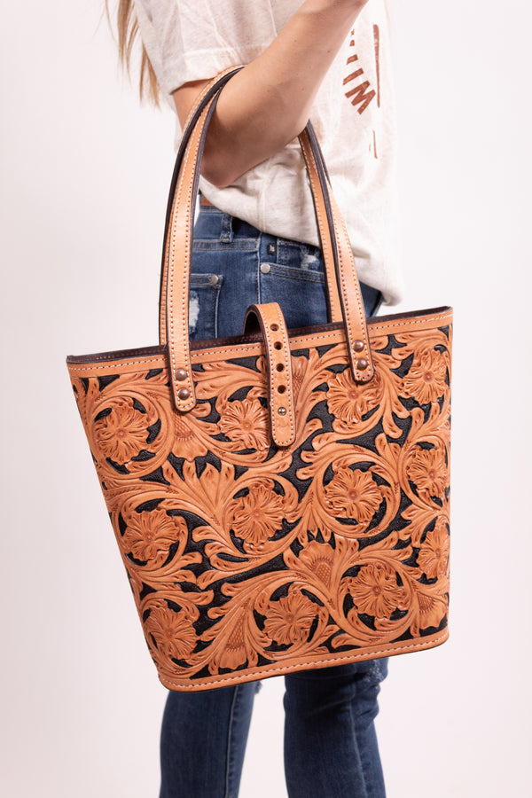 Cowboy's Favorite Tooled Purse
