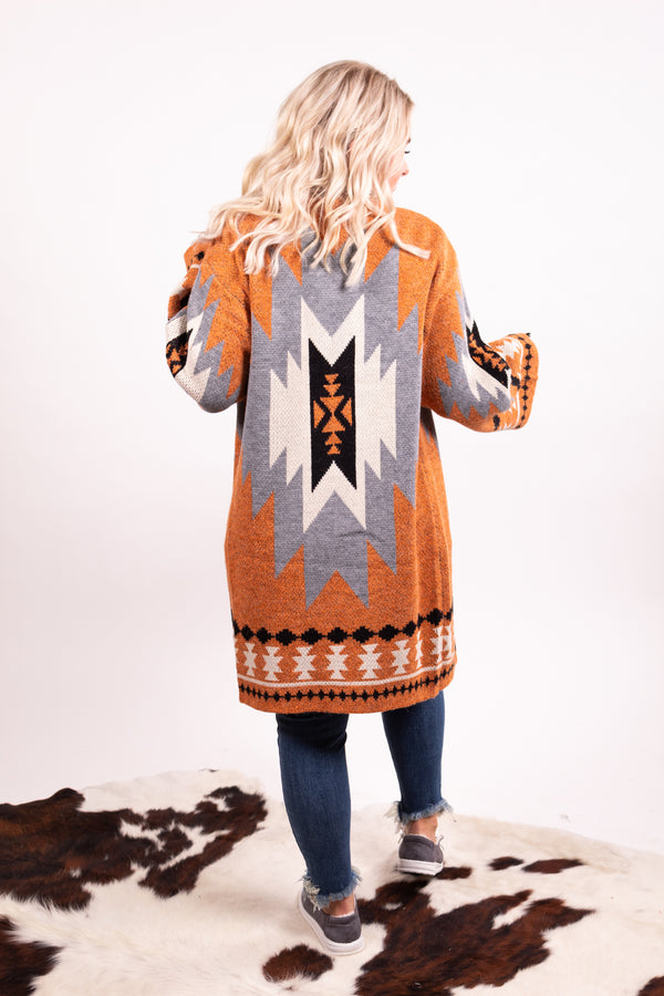 Copper Out West Aztec Cardigan