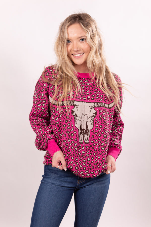 Poncho Pink Sweater Top