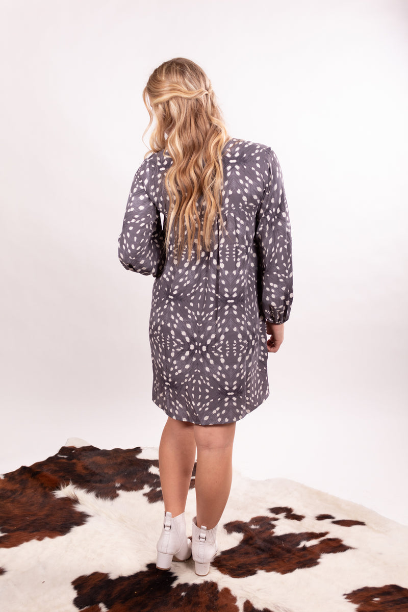 Grey Bambi Babydoll Dress