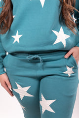 Jade Star Bright Crew Neck Lounger Set