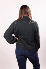 Hunter Green Cable Knit Sweater