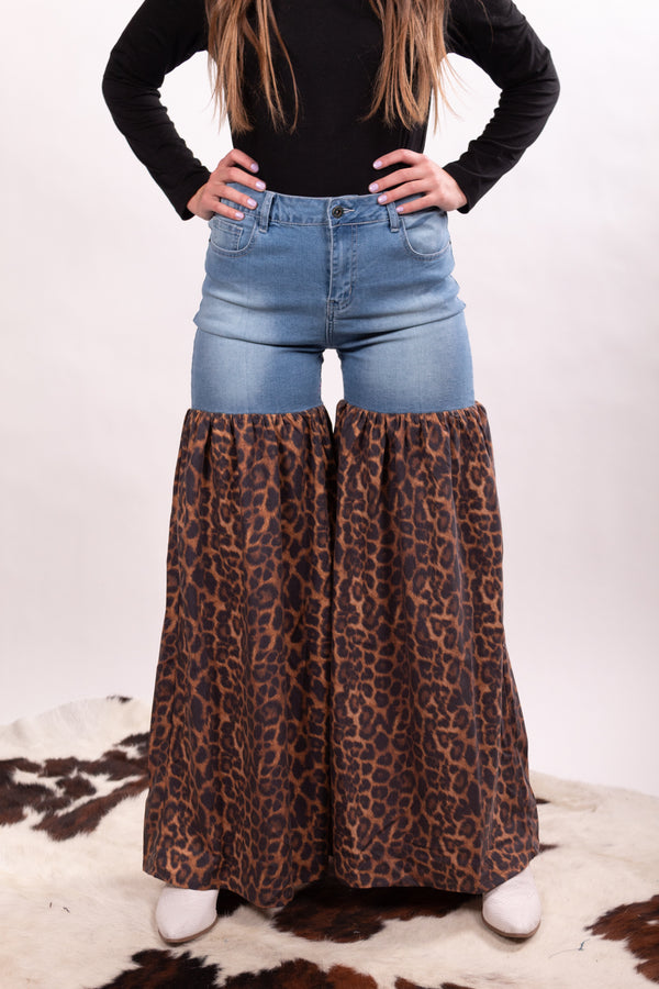 Leopard Denim Party Pants