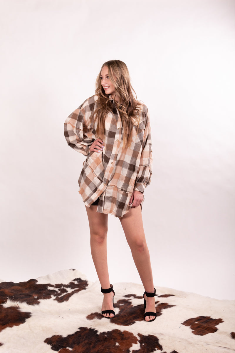 If I Was Your Boyfriend Oversized Flannel